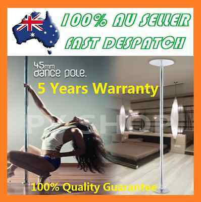 DANCE POLE PORTABLE EXERCISE SPINNING HOME GYM DANCING FITNESS + 2 x EXTENSIONS