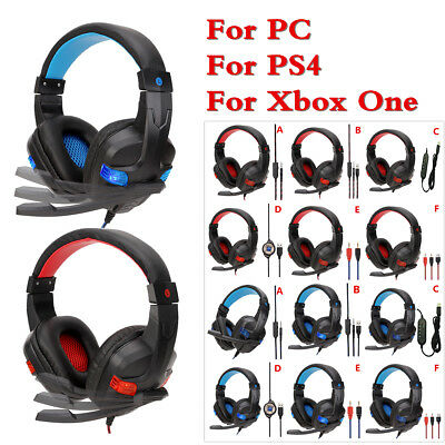 3.5mm Gaming Headset Stereo Surround Headphone With Mic For PS4 Xbox ONE PC Hot