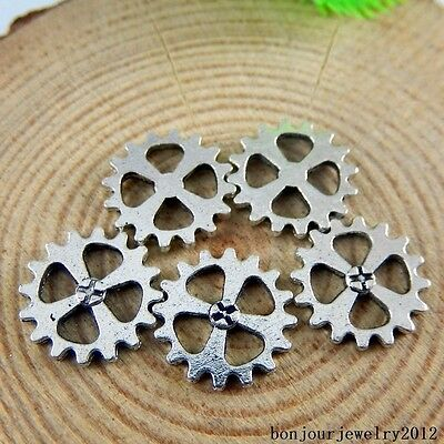 50894 Vintage Silver Alloy Hollow Gear Wheel Pendants Charms Findings Crafts 89x