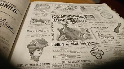 Original vintage newspaper full page advertising 1891 19th century fashion
