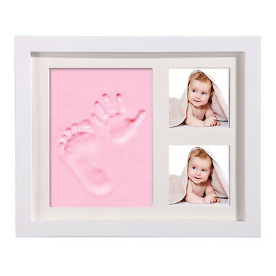 for Baby Hand  Foot Print Clay Cast Kit Photo Picture Frame Gift RE
