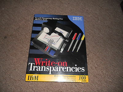 """IBM 24L5260 WRITE ON TRANSPARENCY FILM clear 8.5"""" x 11"""" 100 sheet SEALED in pkg"""