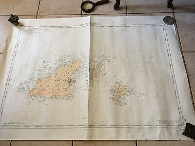 Map Marine Manche Guernsey Islands, Herm And Sark