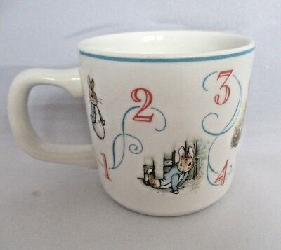 Wedgwood Beatrice Potter Peter Rabbit Childs Cup Mug Numbers Warne 1993