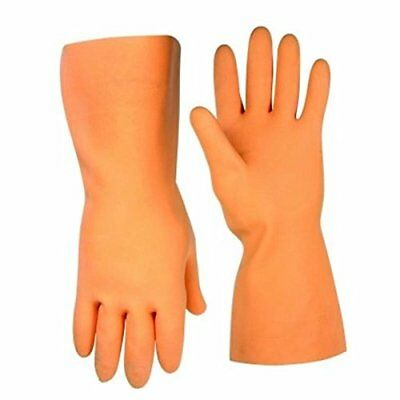 Clc® Flock-Lined Latex Stripper Gloves, Extra-Large, Orange, 12 In., Single Pack