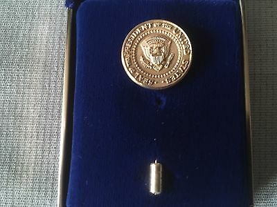 Presidential Seal 24K Gold Plated Stick Pin - Clinton