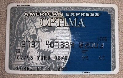 Expired 2001 Vintage American Express Optima Credit Card - Nice Collectible