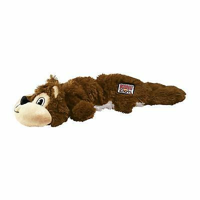 KONG Scrunch Knots Squirrel Dog Toy Medium/Large Stretchy Squeaky Dog Toy New UK