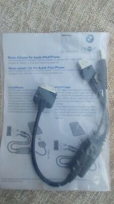 New Genuine OEM BMW MINI iPhone iPod Music Adapter Y Cable BMW # 61 12 2 338 491
