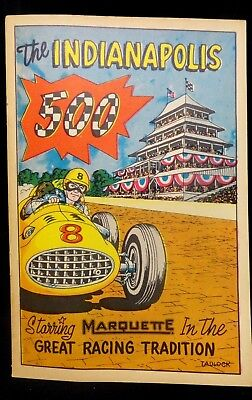 1957 The INDIANAPOLIS 500 * MARQUETTE Promo COMIC / MAGAZINE * (UNTOUCHED COND.)