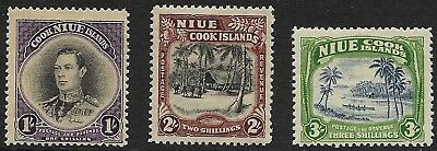 Niue - SG 75-77 - 1938 - Definitive Set of 3 - Mounted Mint/Mint Hinged