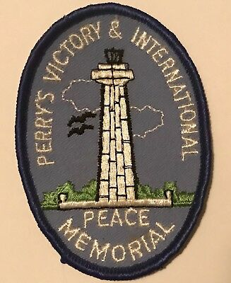 Vtg PUT IN BAY OHIO Patch PERRY'S VICTORY INTERNATIONAL PEACE MEMORIAL