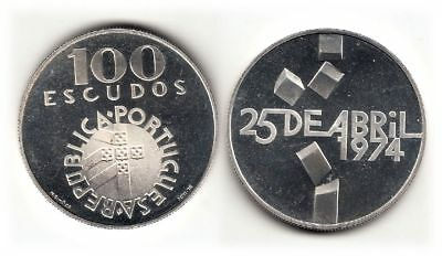 Portugal,  100 Escudos 1974   Rs. Datumsangabe  Ag 650  15 gr   Proof