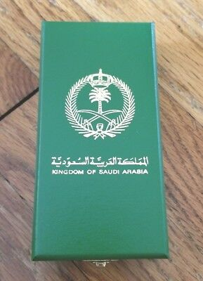 Very Nice Cased Kingdom of Saudi Arabia Service Award - 100%  Authentic