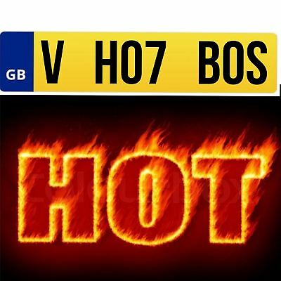 VH07 BOS Private Car Registration Plate Number Cherished Personal HOT BOSS B056