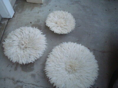 "1 x 20""+1x32""  / White  / African Feather Headdresses / Juju Hats / 1st. Quality"