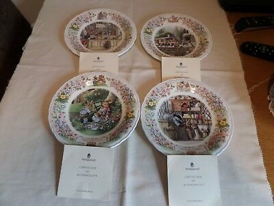 Wedgwood Foxwood Tales Pates X 4 All With Certificates And Mint