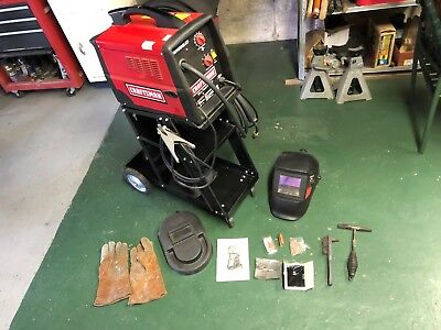 Craftsman flux core wire MIG feed WELDER -w/ extra tips nozzle Stand + face mask