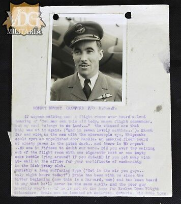 WW2 RCAF Personnel File with Photo-Robert Ernest Crawford