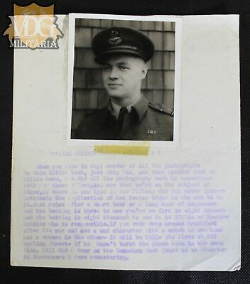 WW2 RCAF Personnel File with Photo