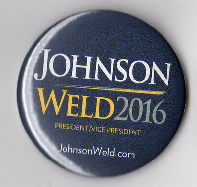 Gary Johnson campaign button pin Libertarian Party 2016 Official