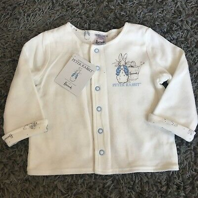 Brand New With Tags HARRODS Blue Peter Rabbit Jacket Size 6-9 Months