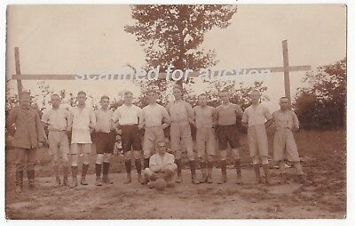 Germany - Ww1 German Military Soccer Team - 1914/18 Rppc
