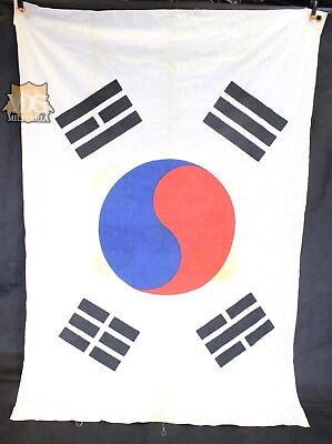 Large Antique South Korean Flag Naval Maritime Military