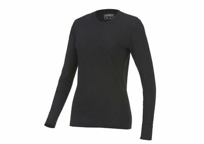 NEW Womens Warm Base Layer Thermal Underwear Long Sleeve Johns Top Shirt Black