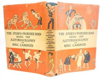 The Story of Wonder Man Autobiography of Ring Lardner 1927 1st edition RARE DJ