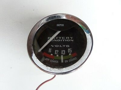 SMITHS BATTERY CONDITION / VOLTS GAUGE 52mm