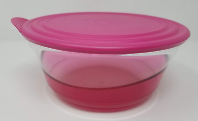 Tupperware Sheerly Elegant Illusions 2.3L 9.5 Cup Bowl Pink Rare Acrylic New