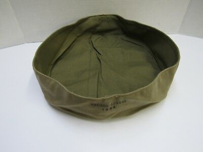 WW2 US Army USMC Wash Basin Large Size Khaki 1944 Dated Anchor Canvas MFG