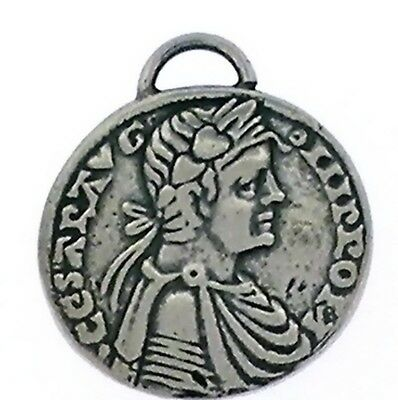 Ancient Greek  Coin reproduction Pendant  in Sterling Silver -Emperor/Eagle
