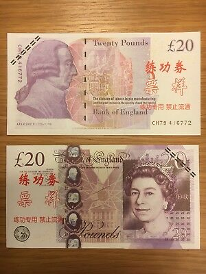 Novelty Fake Bank Notes PLAY MONEY 5 X 20 Note Pretend GBP Casino UK Fast Post