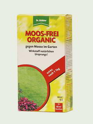 Dr.Stähler Moos-Frei Organic 1 Litre for 60 M ² against MOOSE in the Garden
