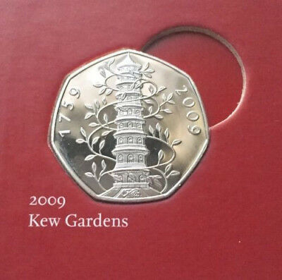 Kew Gardens 50p Fifty Pence Coin Rare 2009 Proofcopy SAME DAY DISPATCH NEXT DAY