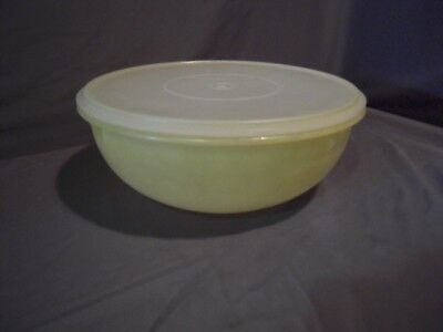Vintage Tupperware Large 26 Cup Fix-N-Mix Bowl Yellow #274 Sheer Lid