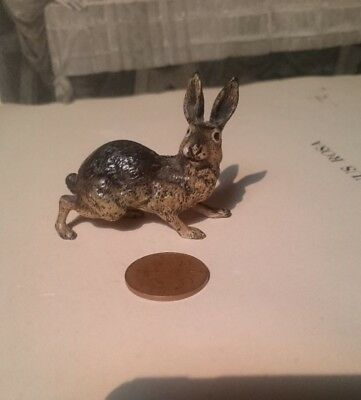 Austrian Cold Painted Bronze Hare