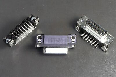 Lot of 2 5745782-4 TE Conn D-Sub Connector 15 Pos Female Receptacle Right Angle