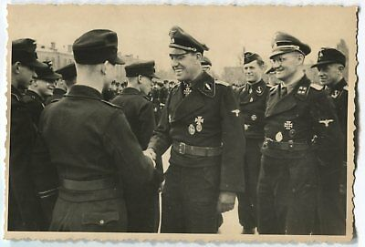 German Wwii Photo From Russian Archive: Group Of Tankmen - Elite Troops Officers