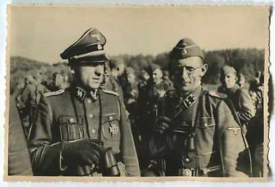 German Wwii Photo From Russian Archive: Elite Troops Officers