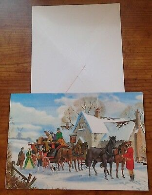 Christmas Card Horse's pulling Coach 242837