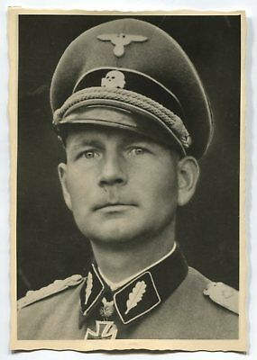 German Wwii Photo From Archive: Elite Troops Officer, Knight's Cross, Name