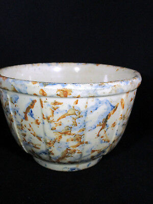 Red Wing Spongewear Blue/Rust Panel Bowl #6 Advertising H. Marcus Muscoda WI