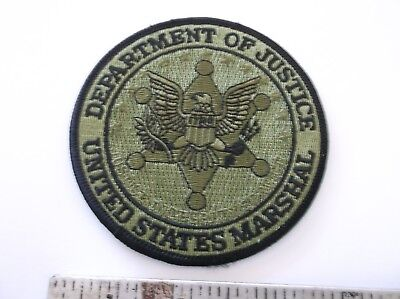 US Marshal green patch