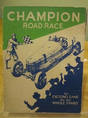 1934 Champion Road Race Game By Champion Spark Plug Co. Game Complete w/Spinner