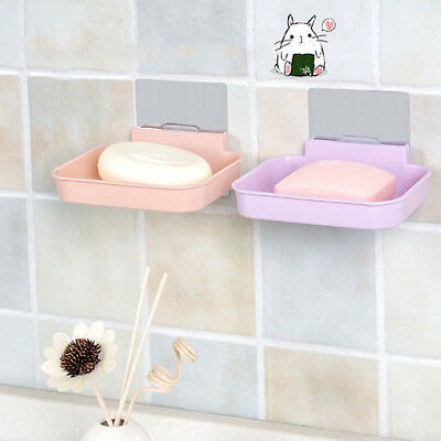 Simple No Trace Stickers Suction Wall Leachate Soap Box Bathroom Rack Soap Rack