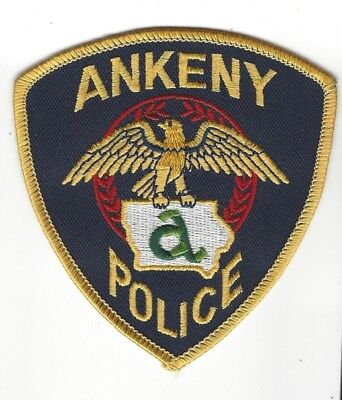 Ankeny (Polk County) IA Iowa Police patch - NEW! *Cloth Back*