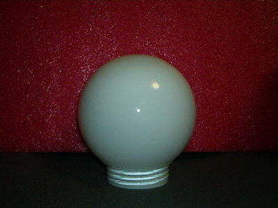 """6"""" White Glass Globe with Screw Threads on Neck  Same Day Shipping"""